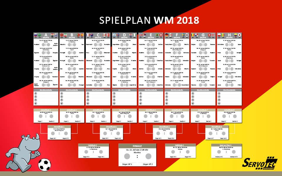 Spielplan Deutschland